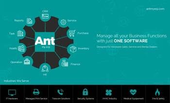 ANT MY ERP Solution for SMEs and MSMEs: Optimizing Business Functions Management
