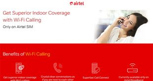 Airtel launches 'Airtel Wi-Fi Calling' - India's first Voice over Wi-Fi service